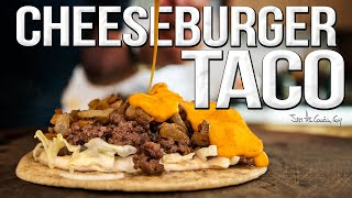 It's a Cheeseburger! It's a Taco! It's a CHEESEBURGER TACO??!!! | SAM THE COOKING GUY 4K