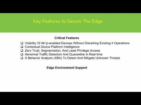 Five Key Features to Secure The Edge