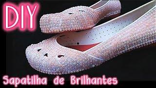 """Baixar """"FAÇA VOCÊ MESMA"""" 🌸 DIY: Sapatilha de Brilhantes (para ocasião especial) 🎀 #100KdaVivi ♛"""