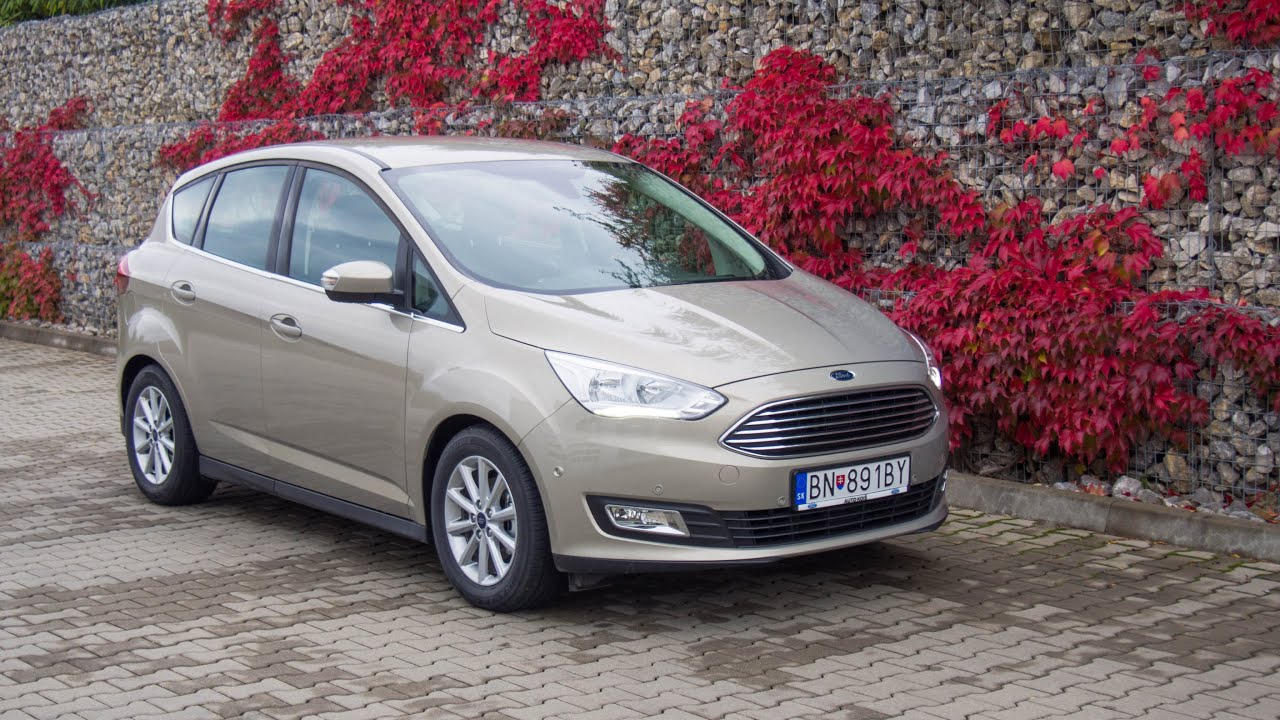 ford c max 1 0 ecoboost 125k titanium tectonic silver youtube. Black Bedroom Furniture Sets. Home Design Ideas