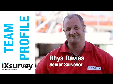 Team Profile: Rhys Davies, Senior Surveyor // IXBLUE // Marine Survey Specialists