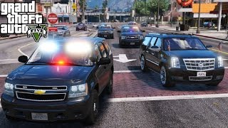 GTA 5 Presidential Mods Test Part 1   Escorting The President Of The United States Motorcade
