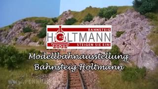 Modelleisenbahn FREMO Module der Dampfbahn Furka Bergstrecke im Bahnsteig Holtmann
