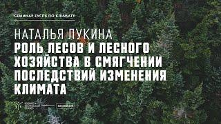 Наталья Лукина. Роль лесов и лесного хозяйства в смягчении последствий изменений климата