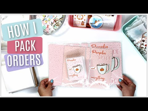 How I Pack & Ship Etsy Orders || Behind The Scenes Of An Etsy Shop