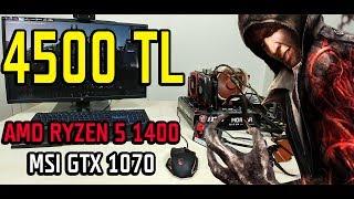 4500 TL PC Oyun ve Sistem Testi - Amd Ryzen 5 1400 İşlemci Performansı