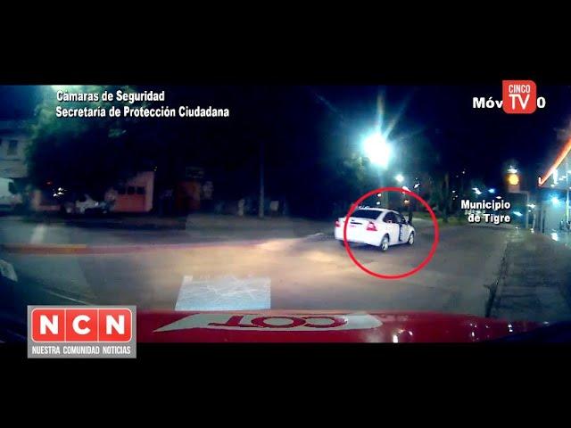 CINCO TV - Intentó saltar del auto para escapar de su agresor y el COT la salvó a tiempo