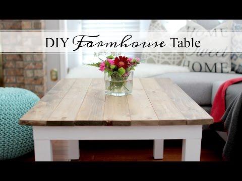 DIY FARMHOUSE TABLE - EASY & AFFORDABLE!