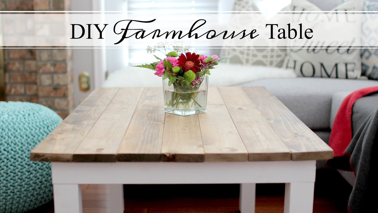 Diy Farmhouse Table Easy Amp Affordable Youtube