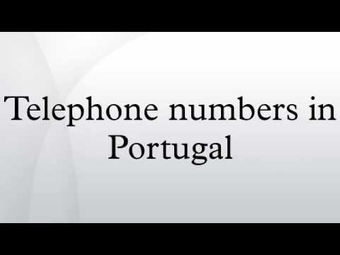 Telephone numbers in Portugal