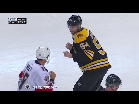 Micheal Haley vs Adam McQuaid Mar 31, 2018