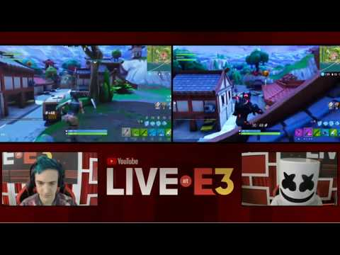 Ninja and Marshmello Play Fortnite at the YouTube Live at E3 Studio! Part 1