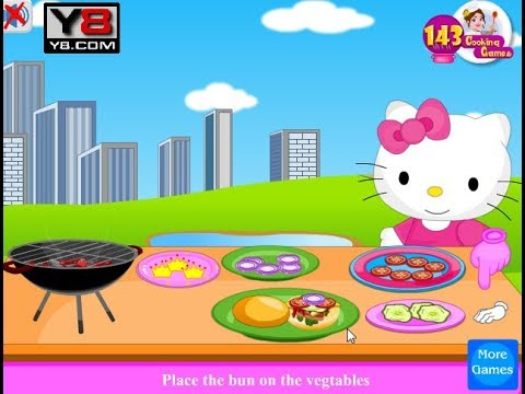 8522c5d6e Hello Kitty Cooking Hamburger and Pizza. VIDEO GAMES KIDS