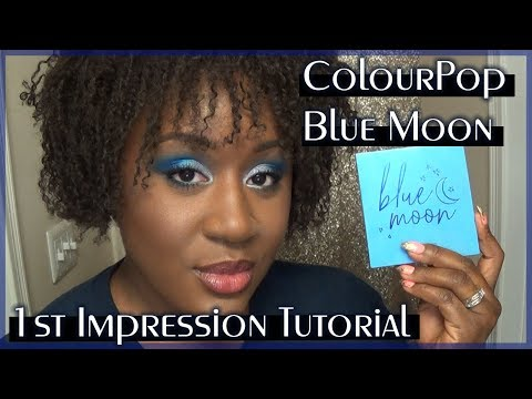 Let's try the ColourPop Blue Moon Palette | 1st Impression Tutorial & Swatches | Ashley Crutchfield thumbnail