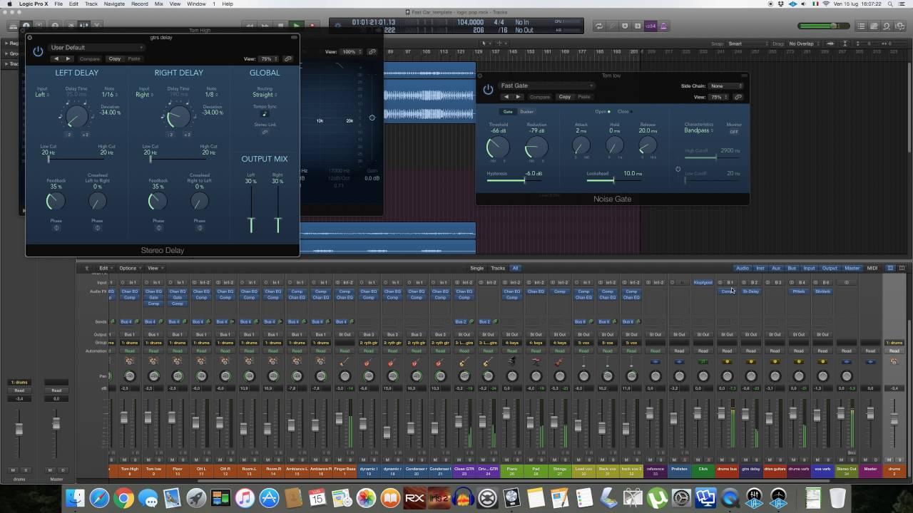 Templates Mix Per Logic Pro X Introduzione Youtube