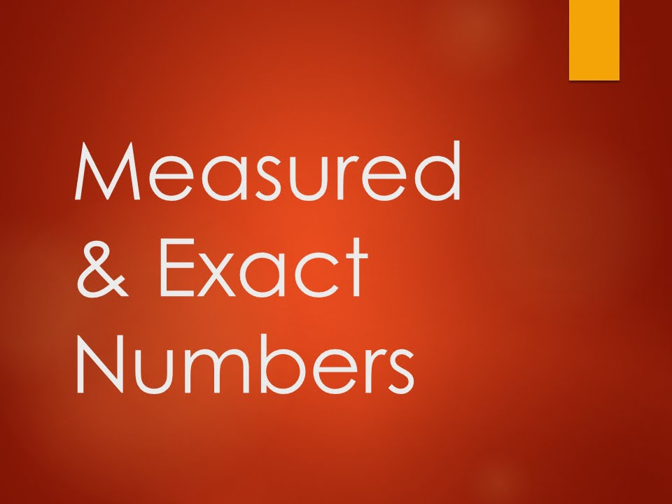 Measured  Exact Numbers - YouTube