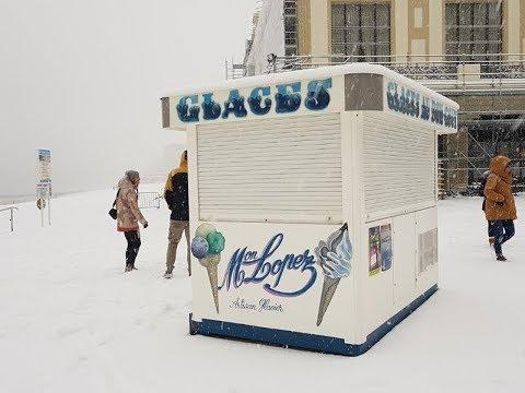 Biarritz sous la neige - 28 février 2018