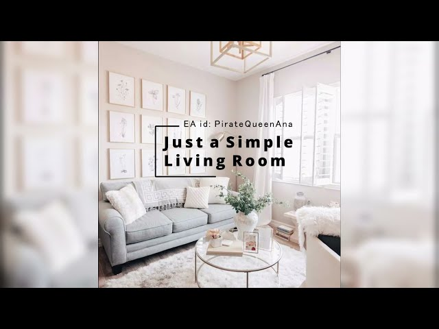 Recreating a Simple Clean Pinterest Living Room in the Sims 4 // SPEED BUILD