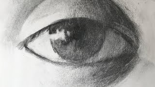 Download lagu Anatomy Study #12 - Simple Way to See and Draw Eye with Charcoal