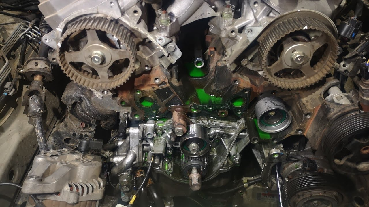 Mitsubishi Pajero 6g75 3 8 Litre Water Pump Leak Gaskets