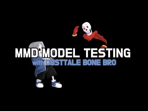 MMD]Girls got to go(Dusttale bone bro model test)