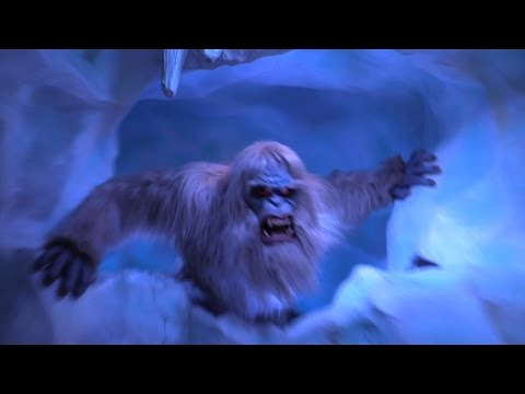 FULL POV 2015 Matterhorn Bobsleds ride with new Abominable Snowman effects - Right Side