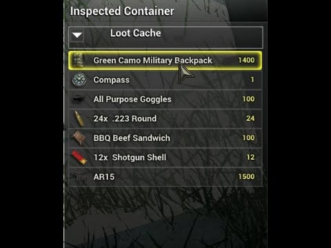 how to find loot in h1z1 camo military backpack compass and more