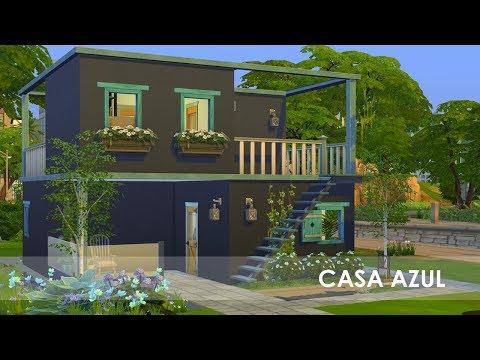 CASA AZUL | Desafio das Cores | Construção | The Sims 4 thumbnail