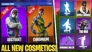 *NEW* FORTNITE SKINS & ITEMS UPDATE LEAKED! - FORTNITE COSMETICS ABSTRAKT & TAG BAG COMING SOON!