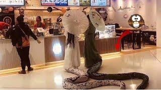 Seisi Mall Heboh Melihat 2 Gadis Cantik Berekor Panjang! Tak Disangka itu... WOW