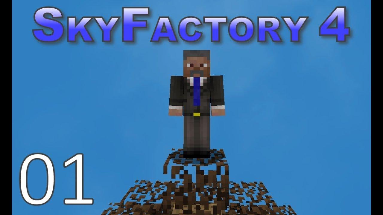 Minecraft | SkyFactory 4 E01 - Let the Grind Begin!
