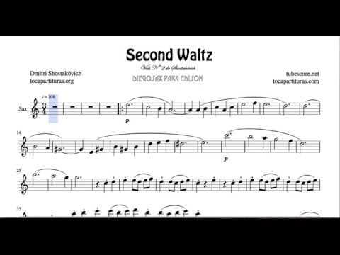 Waltz Nº 2 Sheet Music for Alto Saxophone & Baritone Sax E Flat Vals by Shostakovich