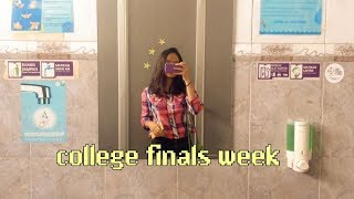 college week in my life: finals week edition
