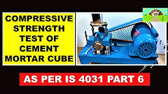 COMPRESSIVE STRENGTH TEST OF CEMENT MORTAR CUBE AS PER IS 4031 PART 6