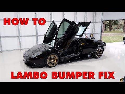 Lamborghini Murcielago Bumper Fix After A Hubcap Hit It ! How To Remove and Repair