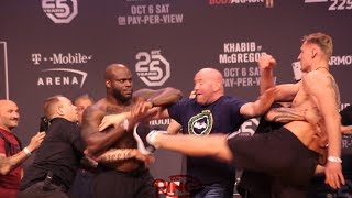 DERRICK LEWIS AND ALEXANDER VOLKOV HAVE HEATED FACEOFF AT THE UFC 229 WEIGH INS