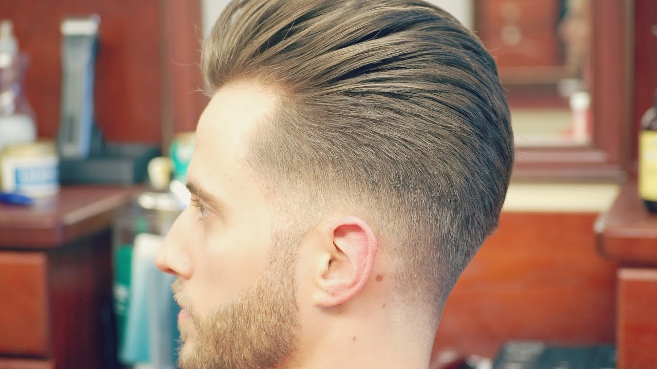 pictures of mens haircut styles how to do an undercut with a slicked back pompadour 6291