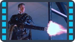 Многоствольный пулемёт M134 Minigun — «Терминатор 2: Судный день» (1991) сцена 7/10 QFHD