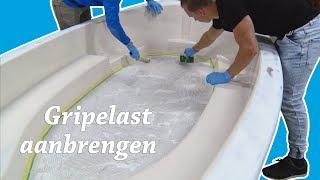 Anti slip coating aanbrengen op de bodem | Alles voor jouw boot! Aflevering 17