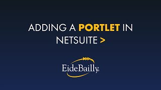 How to Add a Portlet in NetSuite