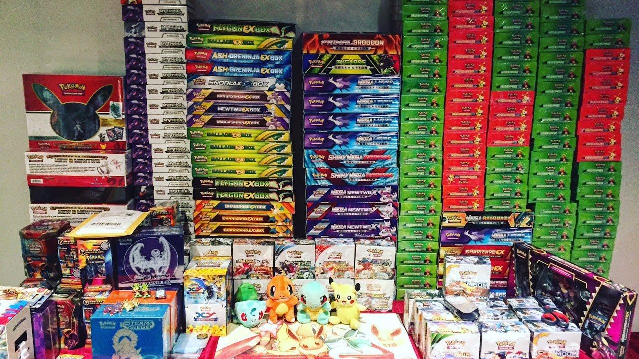 Sbírka Pokemon produktů