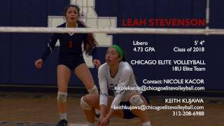 Leah Stevenson - 2018 Libero - #1 - Varsity Season Highlights 2016