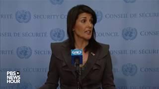 WATCH: Ambassador Nikki Haley speaks on Pakistan, Iran