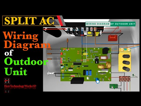 wiring diagram of outdoor unit of split air conditioners