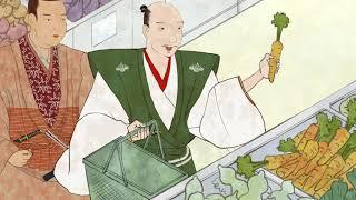 織田信長と明智光秀が省エネ?! 旬の野菜を選択することが省エネにつながります。 詳しくは、省エネポータルサイトをごらんください。...