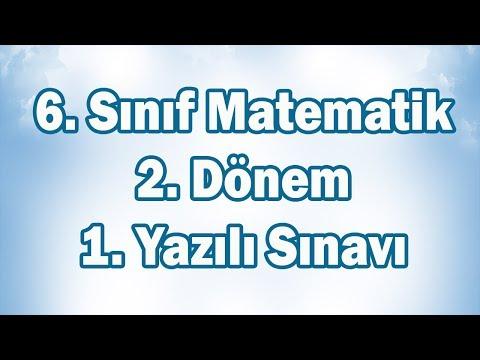 6. Sınıf Matematik 2. Dönem 1. Yazılı Sınavı Hazırlık | CANLI