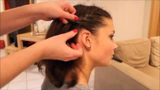 Flechtfrisur für kurzes Haar