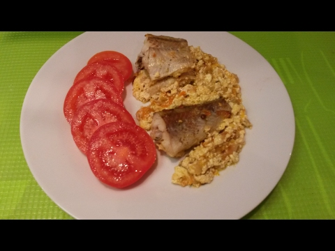 Минтай запеченный в духовке с картошкой рецепт с фото