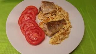 Минтай в сметане в духовке очень вкусная рыба с овощами