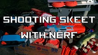 NERF SHOTGUNS vs REAL CLAY PIGEONS - Can We Break Em? Video